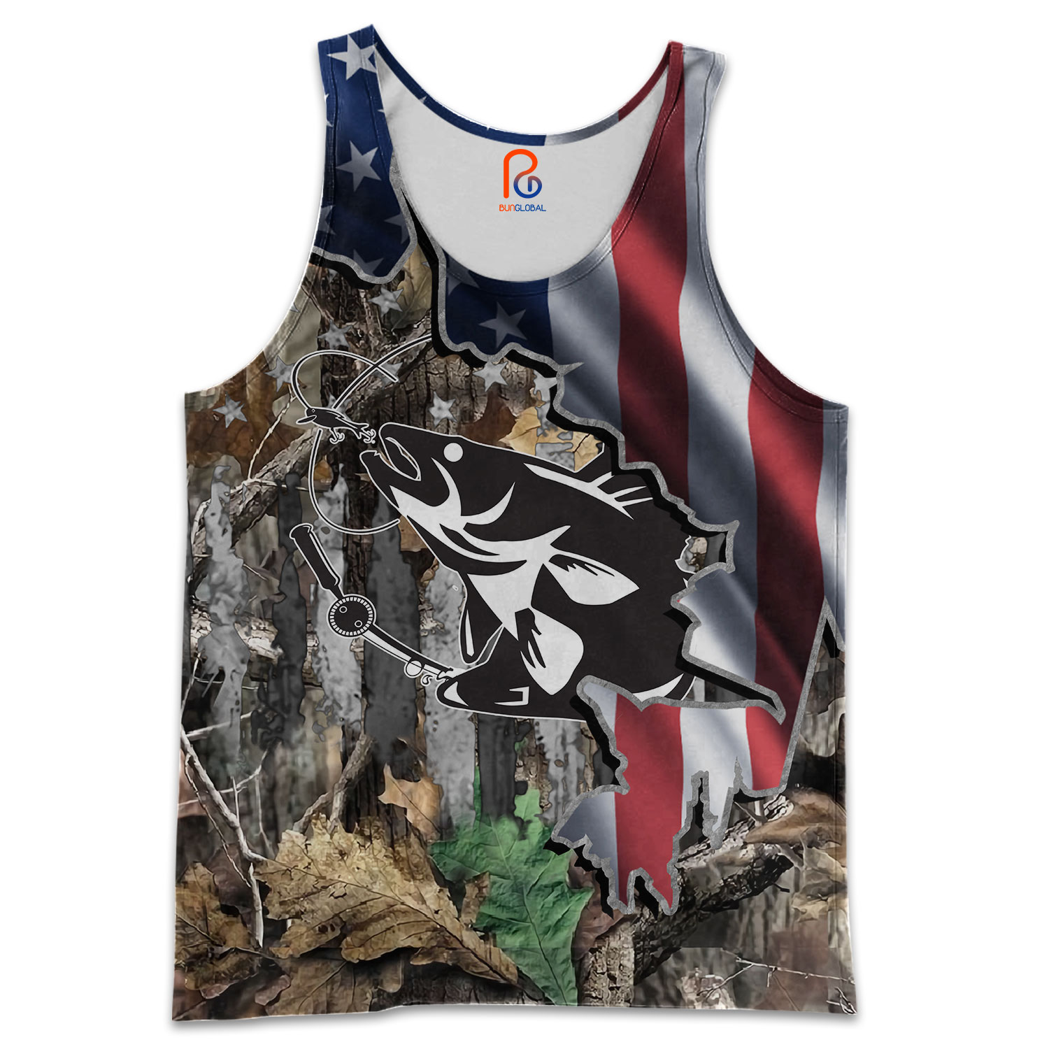 Download Walleye Fishing American Flag 3D All Over Printed Shirts ...