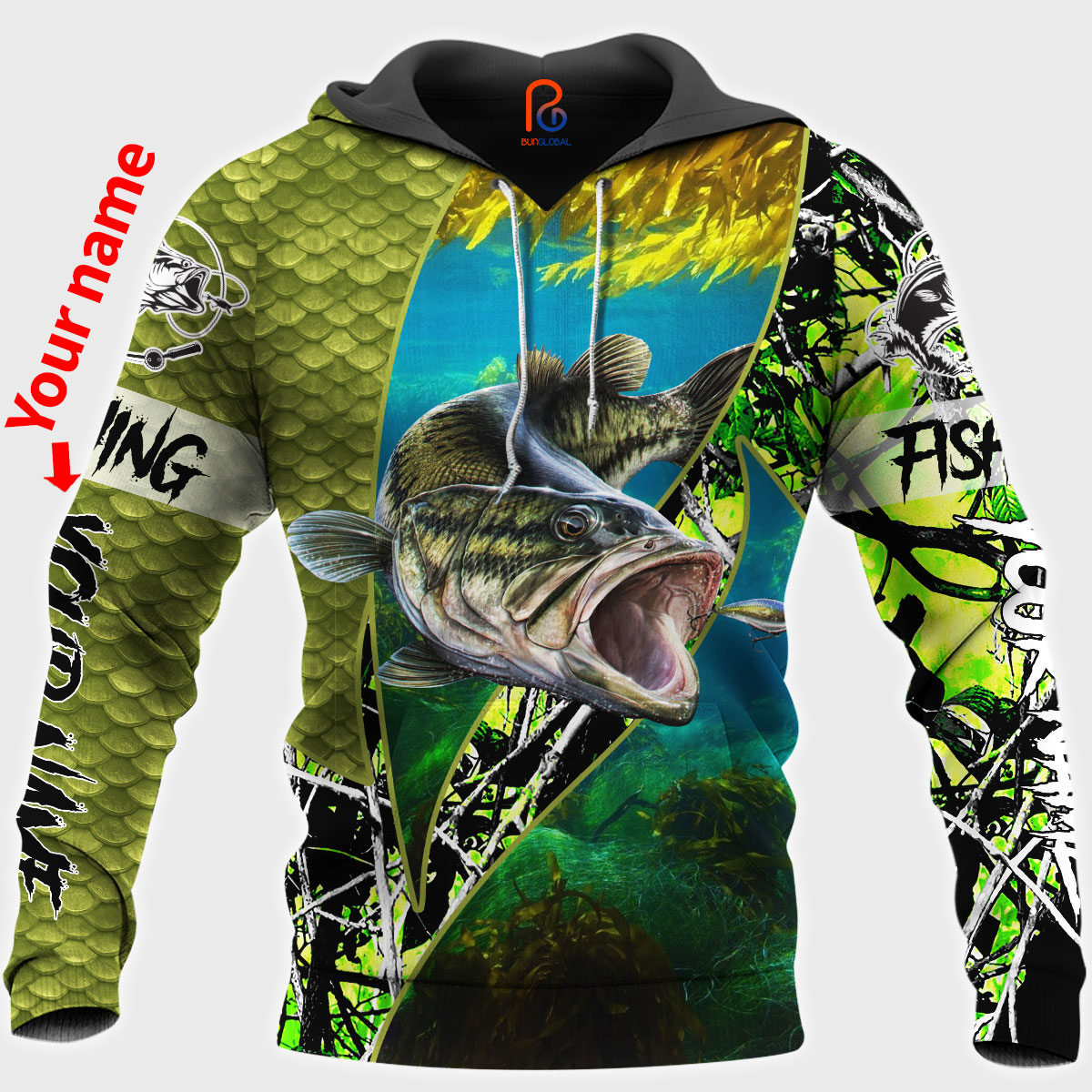 Download Bass Fishing American Flag 3D All Over Printed Shirts for ...